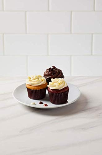 The Cheesecake Factory Mini Cupcake Combo (Vanilla Bean, Blackout, Red Velvet) 10 count (Pack of 12)