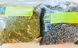 - Sachet Kit: Dreams ~ Organic Herbs ~ Mugwort ~ Lavender ~ 5 Inch Square Sachet for You to Fill and Sew Shut ~ Ravenz Roost Herbs with Special Info on Labels