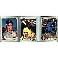 Amazoncom 1983 Fleer Baseball Complete Mint 660 Card Set