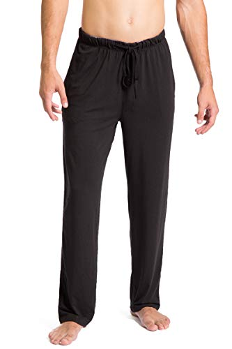 Fishers Finery Men's Ecofabric Jersey Pajama Pant (Black, -