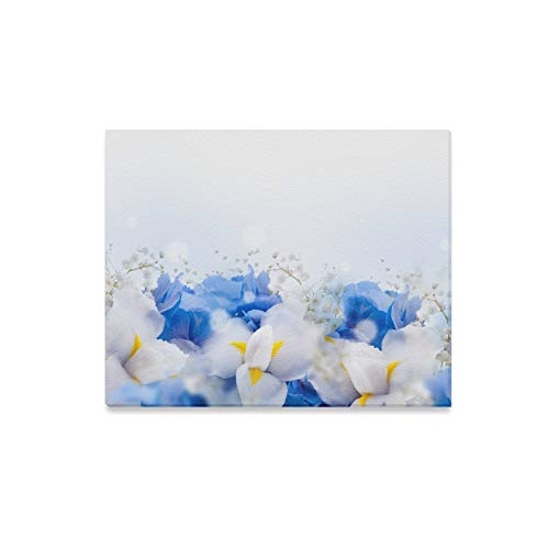 XINGCHENSS Wall Art Painting Light Blue Spring Romantic Fragrant Flower Prints On Canvas The Picture Landscape Pictures Oil for Home Modern Decoration Print Decor for Living Room