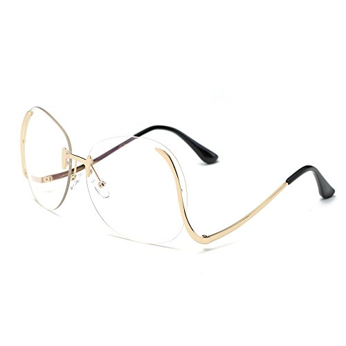 52e3a03f206 JOJO S SECRET Oversized Rimless Sunglasses