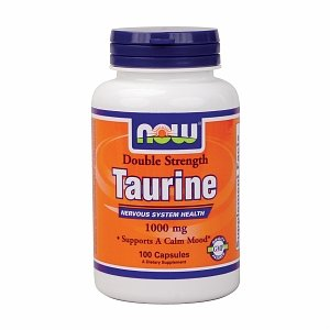 NOW Foods Taurine, 1000mg, 100 Capsules
