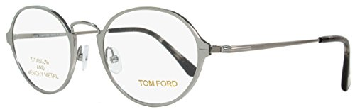 TOM FORD FT 5350 Eyeglasses 014 Shiny Light Ruthenium