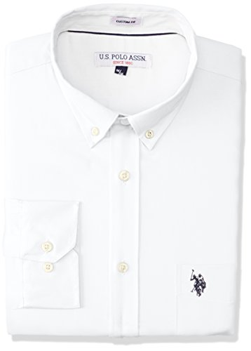 US Polo ASSN USYMS-42-5904 Camisa Casual para Hombre, White, Mediano