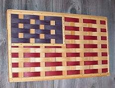 Amazon.com: Amish Handmade Rustic American Flag Americana Design ...