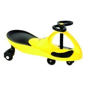 KMS157301 Kids Motor Store Glowing Yellow Rolling Coaster Wiggling Race Car Premium Scooter