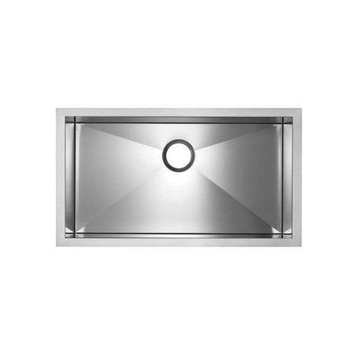 Blanco BL516201 Precision MicroEdge Super Single Bowl Sink, Satin Polished (Precision Super Bowl Single)