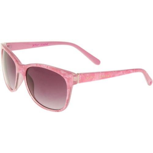 BETSEY JOHNSON Agate Marble Pink Wayfarer Sunglasses,PNK