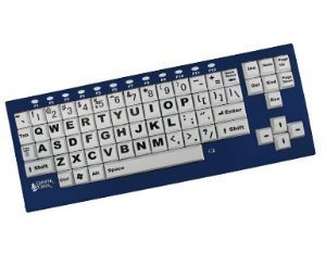 Chester Creek Ablenet BigBlu VisionBoard Large Keys Bluetooth Black Print on 1-in/2.5-cm White Keys ()