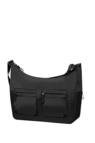 Samsonite Move 2 Shoulder Bag M + 2 Pock Borsa Messenger, 31 cm, Black