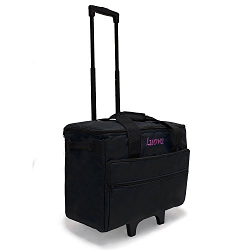 Luova 19'' Rolling Sewing Machine Trolley in Black by Luova