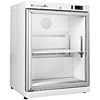 K2 Scientific 4 cu. ft. Laboratory Undercounter Freestanding Glass Door Refrigerator