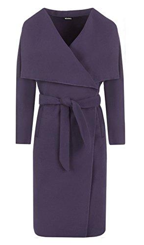 Celebrità Lunga Purple Giacca Manica Cintura Donne Cascata Janisramone Moda Abaya Con Sciarpa Drappo v0wA5xB7q