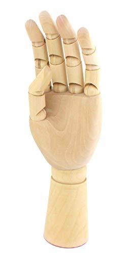 木製 ハンド マネキン 関節可動 デッサン スケッチ 素描 モチーフ イラスト モデル (男性30cm左手)
