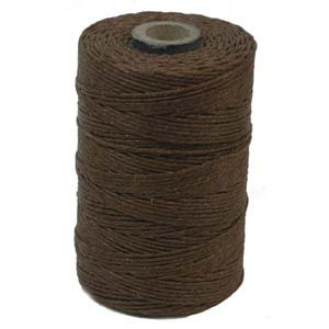 Waxed Irish Linen Crawford Cord 3 Ply 1 spool (app 120 yds) WALNUT BROWN