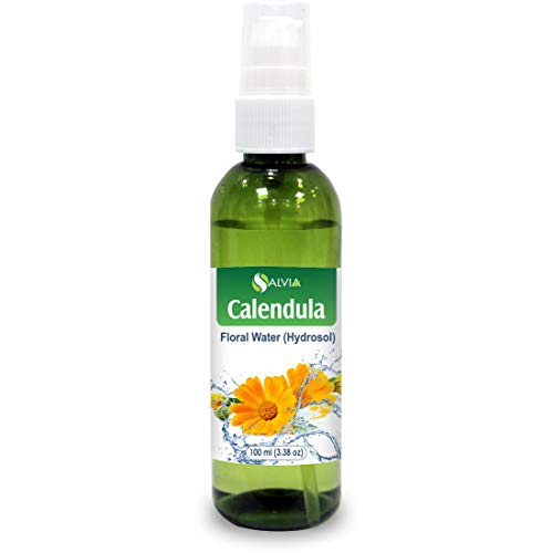 Calendula Floral Floral Water 100% Pure Hydrosol Spray Mist for Skin & Body Cooling, Face, Astringent, Facial Toner- 100ml / 3.38 fl oz ()