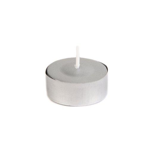 Zest Candle 50-Piece Tealight Candles, Metallic -