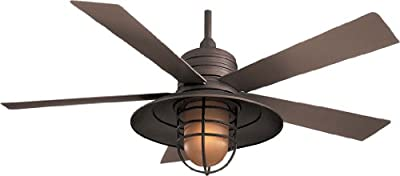 "Minka-Aire F582-ORB, Rainman Oil-Rubbed Bronze 54"" Outdoor Ceiling Fan w/ Light & Control"