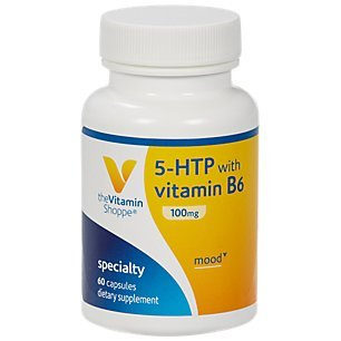 The Vitamin Shoppe 5HTP with B6 100 MG (5Hydroxytryptophan) Provides Mood Sleep Support, Once Daily (60 Capsules)