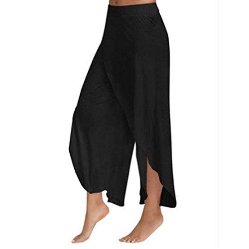 Nero Libero Gonna Eleganti Monocromo High Pantaloni Pantaloni L Baggy Forti Pantaloni Estivi Pantaloni Irregular Color Tempo Cute Size Moda Larghi Taglie Donna Chic Waist Pantalone w8Hq7vAwB