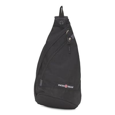 hot sale Swiss Gear Tear Drop Sling Shoulder Bag Black/Grey