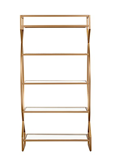 Aiden Etagere in Soft Gold Finish by Bassett Mirror Company