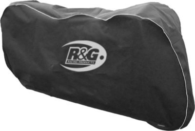 R&G RACING MOTORCYCLE INDOOR BIKE COVER PROTECTOR ONE SIZE ELASTICATED SOFT BLACK All Manufacturers