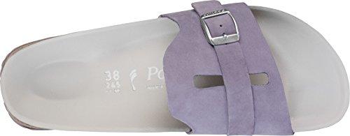 Papillio Leder Para lilac Carmen Morado Mujer 1245 Zuecos UrzwUpnx