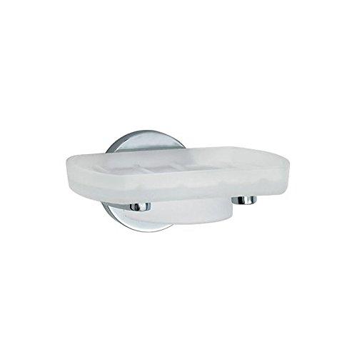 Smedbo SME_LK342 Holder with Glass Soap Dish, Polished - Soap Dish Smedbo