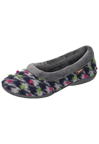 Manitu Home Ladies Slipper Gris 340209-9 Gris