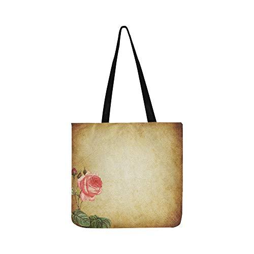 Scrapbooking Paper Scrapbook Vintage Canvas Tote Handbag Shoulder Bag Crossbody Bags Purses For Men And Women Shopping ()