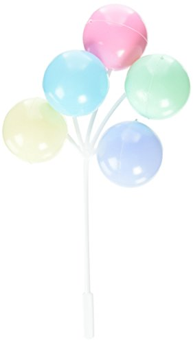 Oasis-Supply-6-Piece-Balloon-Clusters-for-Cup-Cakes-Multicolor