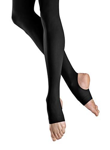 Bloch Dance Women's Ladies Endura Stirrup Tights,Black, Size C