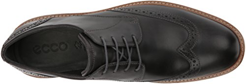 Ecco Heren Jeremy Hybrid Tie Oxford Moonless Wingtip