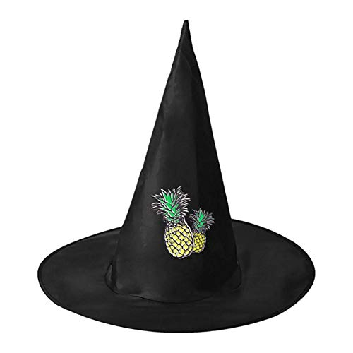 Yellow Pineapple Unisex Halloween Witch Role Playing Wizard Hat for Costume -