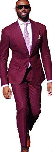 Brightmenyouth Groom Suit Wedding Suits For Men Wedding Groom Tuxedo Suit Black Burgundy Wedding Tuxedos For Men by Brightmenyouth