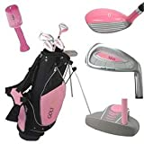 Golf Girl Junior Set for Ages 4-8 w/Pink Stand Bag RH from Golf Outlets of America, Inc.