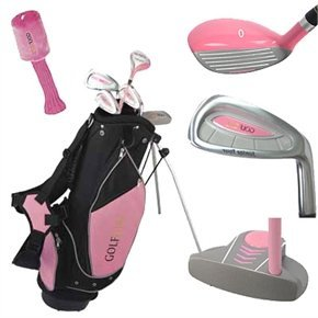 Golf Girl Junior Set for Ages 4-8 w/Pink Stand Bag - Junior Kids