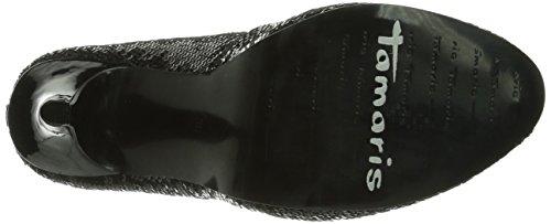 Tamaris 22425 - Zapatos de vestir de lona para mujer negro negro 35 Black Uni 007