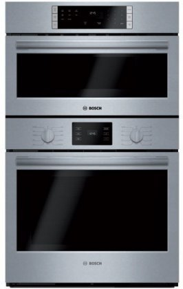 : Bosch HBL57M52UC 500 Series Microwave Combination Oven with 10 Sensor Cooking Programs Defrost Function Bake Variable Broil and Multi Rack Genuine European Convection in Stainless