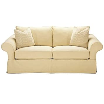 Rowe Furniture 7693 000 Carmel Slipcovered Loveseat