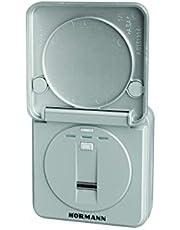 Hörmann Draadloze vingerlezer FFL BS (868 MHz, voor maximaal 25 vingerafdrukken, klapdeksel, kleur RAL 9006) 4511870, grijs