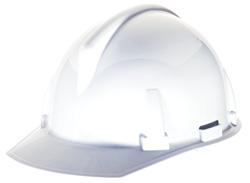 Topgard Protective Caps (MSA Safety 454728 Topgard Polycarbonate Protective Non-Slotted Cap with 1-Touch Suspension, Standard Size, White)