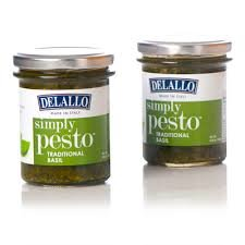 Delallo Simply Pesto Traditional Basil ~ Pack of Two 6.35 Oz Green Pesto Pasta