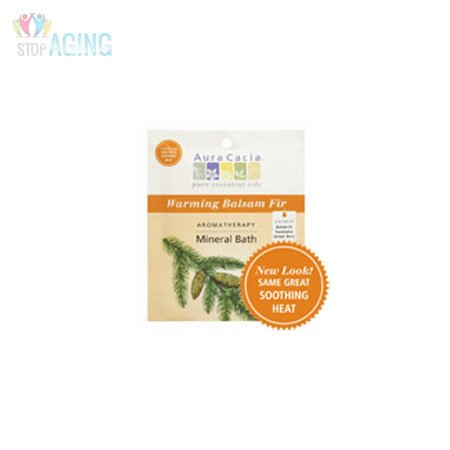 (Aura Cacia Soothing Heat Aromatherapy Mineral Bath Salt, 2.5 Ounce - 6 per case.)