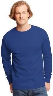 5586 Tagless ComfortSoft Long-Sleeve T-Shirt Hanes Mens 6.1 oz