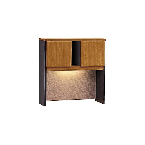 - Bush Business Furniture Series A Collection 36W Hutch in Natural Cherry/Slate