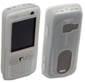 Carcasa de silicona para (color blanco) para Nokia N73