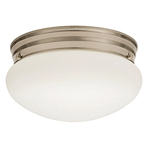 Lithonia Lighting FMMUSL 9 14840 BNP M4 LED Mushroom Flush Mount, 9-Inch, Brushed Nickel